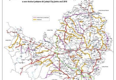 Drumuri judeţene pe care se vor executa în 2018 lucrări de întreţinere