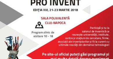 Începe salonul PRO INVENT 2018, la Sala Polivalentă din Cluj-Napoca