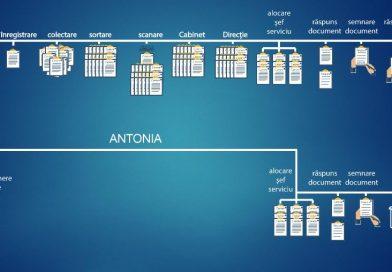 Funcţionarul public virtual Antonia a început să lucreze