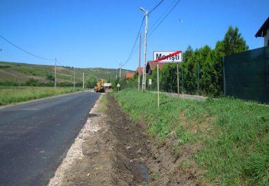 Porţiunea de drum judeţean dintre Apahida şi Morişti a fost asfaltată