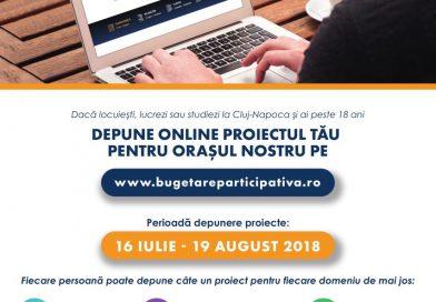 A început ediţia 2018 a proiectului Bugetare participativă online
