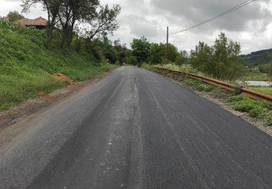 Asfaltare finalizată pe drumul judeţean DJ 109C Fizeşu Gherlii – Sântioana – Ţaga