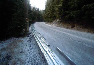 Lucrări la drumul ce leagă stațiunea Muntele Băișorii de pârtia Buscat