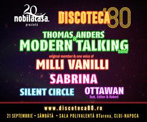 Discoteca '80 Cluj 2019 va avea loc în acest weekend, la Sala Polivalentă