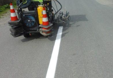 Marcaje rutiere au fost executate pe mai multe drumuri județene