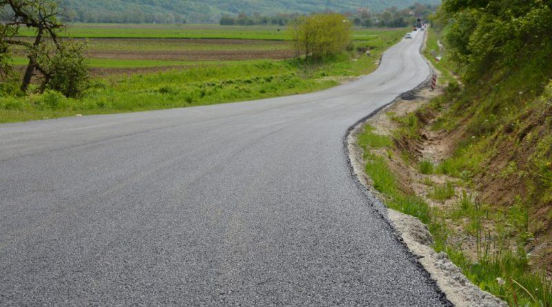 Asfaltare finalizată pe drumul județean Dej – Vad – limită cu județul Sălaj