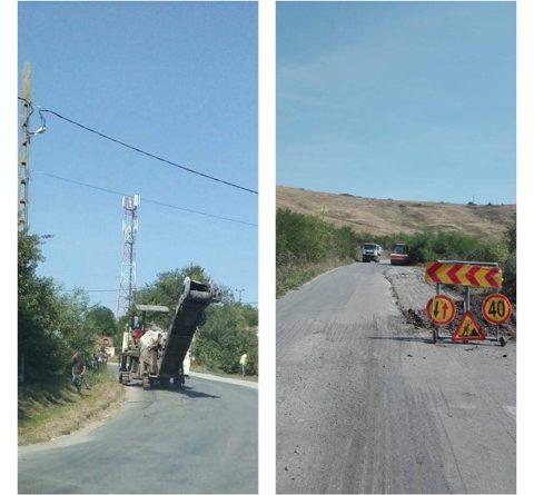 Lucrări de întreținere au loc pe drumul județean 161A, în zona Cojocnei