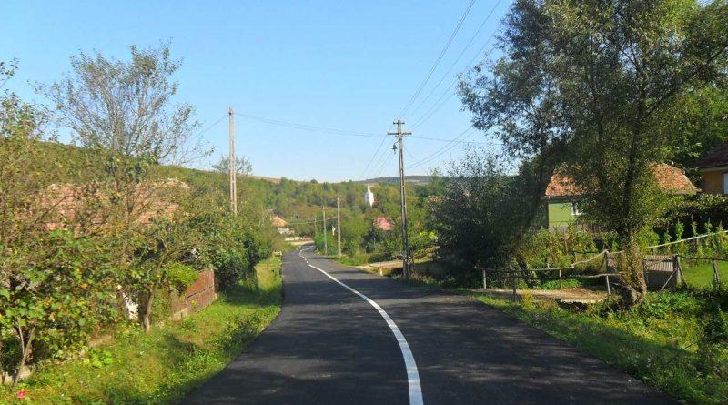 Lucrările de asfaltare pe drumul județean 161K au fost finalizate