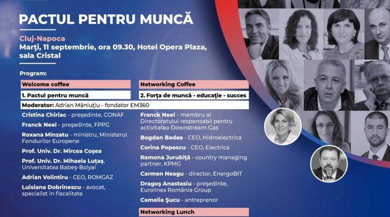 Pactul pentru muncă; O conferință cu miniștri, antreprenori, specialişti