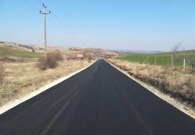Au fost finalizate lucrările de asfaltare pe drumul județean 103G