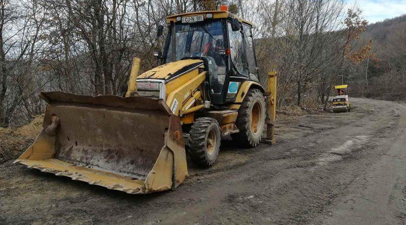 Drumul judeţean 109B a intrat în lucrări de întreținere