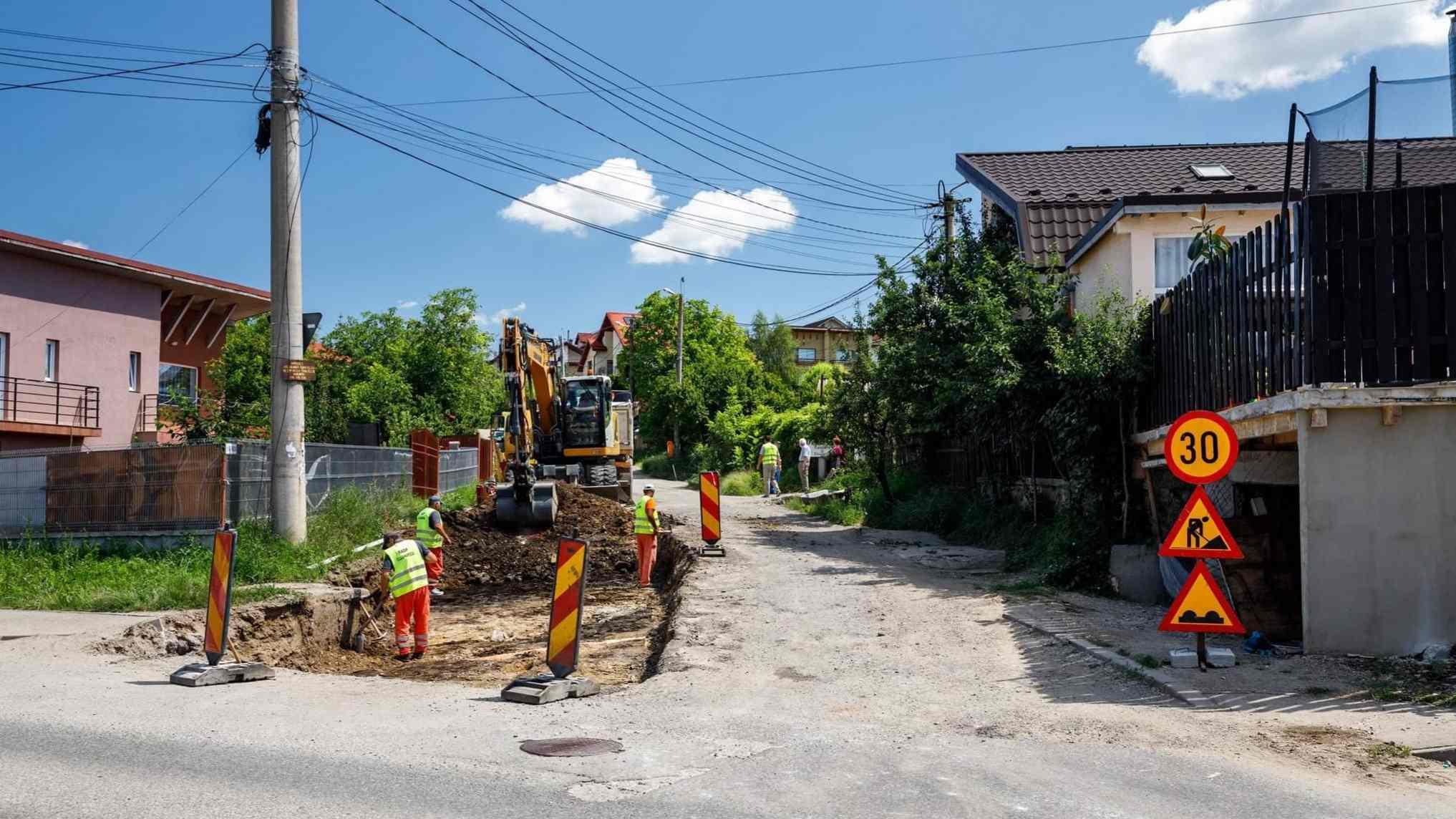Lucrări de modernizare au fost demarate pe strada Valea Fânațelor