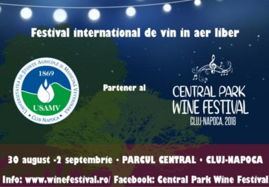 Universitate clujeană, partener al Central Park Wine Festival