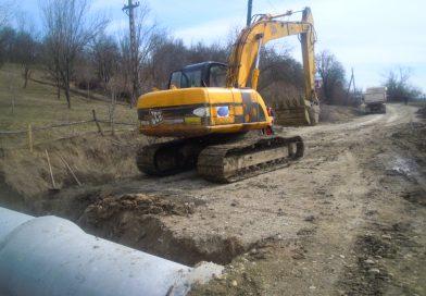 Lucrări la drumul județean DJ 161C din zona Iclod – Aluniş