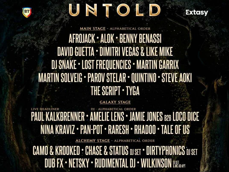 Au fost anunțați primii artiști care vor urca pe scena Untold 2021