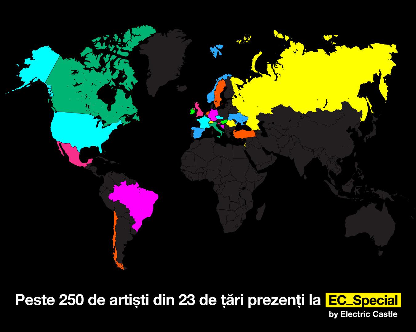 250 de artiști din 23 de țări, de pe 3 continente, vin la EC_Special by Electric Castle