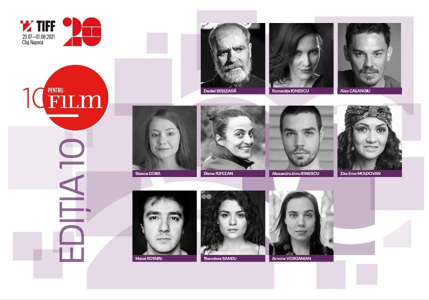 Actorii selectați la cea de-a 10-a ediție a programului 10 pentru FILM